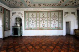 Schloss_Hürbel_Grüner Salon - Tapete von etwa 1780_(c) Schloss Hürbel