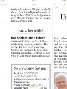 Oberschwaben_Schwäbische Zeitung Sigmaringen