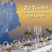 """Postkarte Projektjahr """"Zu Tisch! Genießen in Schlössern und Gärten"""""""
