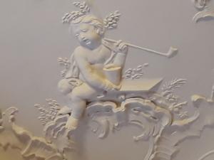 Neues Schloss Meersburg, Detail aus den Stuckreliefs
